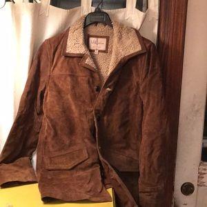 Wilsons leather suede Sherpa coat, mens medium